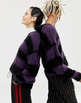 COLLUSION Unisex oversized jumper in fluffy stripe