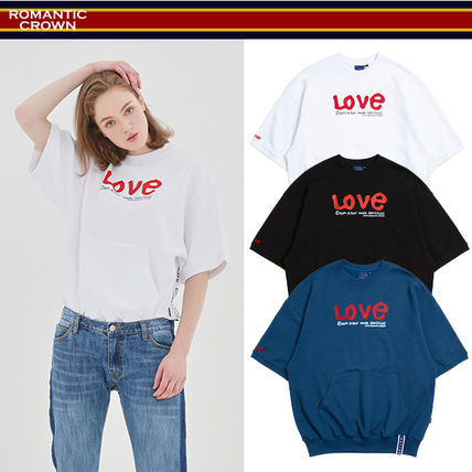 ROMANTIC CROWN Tシャツ・カットソー 【ROMANTIC CROWN】WITH LOVE Pocket T Shirts★NEW★日本未入荷