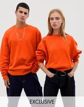 COLLUSION Unisex regular fit sweatshirt in red