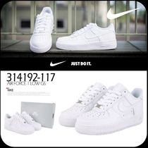 [ NIKE ] WMMS NIKE AIR FORCE 1 LOW GS ALL WHITE 314192-117