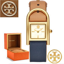 Tory Burch(トリーバーチ) アナログ時計 特価 Tory Burch Navy/Luggage/Gold/Ivory Leather Strap 腕時計