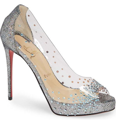 Very Strass Embellished Peep Toe Pump(関税送料込)限定必見
