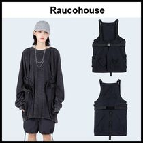 ☆RAUCOHOUSE☆ ジップアップベスト LOOSE POCKET STRAP VEST