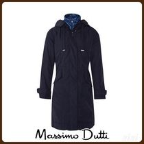 MassimoDutti♪NAVY BLUE PARKA WITH REMOVABLE LINING