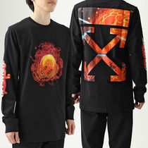OFF-WHITE OMAB001S19185016 HANDS AND PLANET L/S 長袖Tシャツ