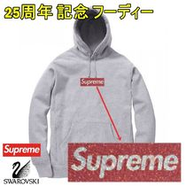 Supreme Swarovski Box Logo Hooded Sweatshirt SS 19 WEEK 9
