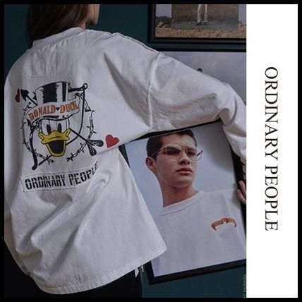 ORDINARY PEOPLE Tシャツ・カットソー ORDINARY PEOPLE☆ テヨン着用 cupid donald duck white t-shirt