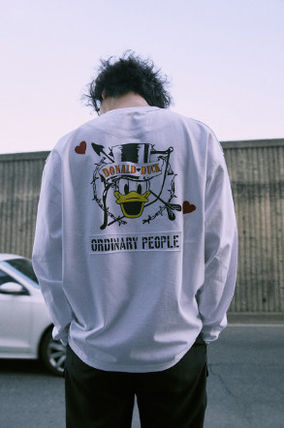 ORDINARY PEOPLE Tシャツ・カットソー ORDINARY PEOPLE☆ テヨン着用 cupid donald duck white t-shirt(7)