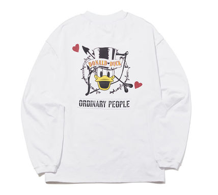 ORDINARY PEOPLE Tシャツ・カットソー ORDINARY PEOPLE☆ テヨン着用 cupid donald duck white t-shirt(10)