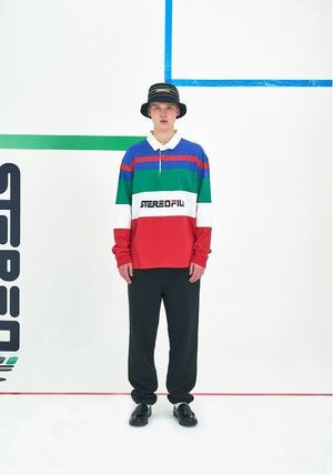 STEREO VINYLS COLLECTION ポロシャツ STEREO VINYLSの[SS19 STEREO X FILA] Color block Rugby Shirts(10)