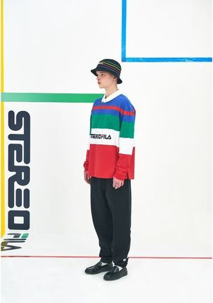 STEREO VINYLS COLLECTION ポロシャツ STEREO VINYLSの[SS19 STEREO X FILA] Color block Rugby Shirts(11)