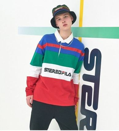 STEREO VINYLS COLLECTION ポロシャツ STEREO VINYLSの[SS19 STEREO X FILA] Color block Rugby Shirts(13)