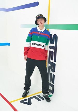 STEREO VINYLS COLLECTION ポロシャツ STEREO VINYLSの[SS19 STEREO X FILA] Color block Rugby Shirts(2)
