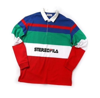 STEREO VINYLS COLLECTION ポロシャツ STEREO VINYLSの[SS19 STEREO X FILA] Color block Rugby Shirts(4)