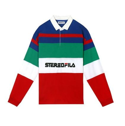 STEREO VINYLS COLLECTION ポロシャツ STEREO VINYLSの[SS19 STEREO X FILA] Color block Rugby Shirts(5)