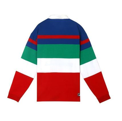 STEREO VINYLS COLLECTION ポロシャツ STEREO VINYLSの[SS19 STEREO X FILA] Color block Rugby Shirts(6)