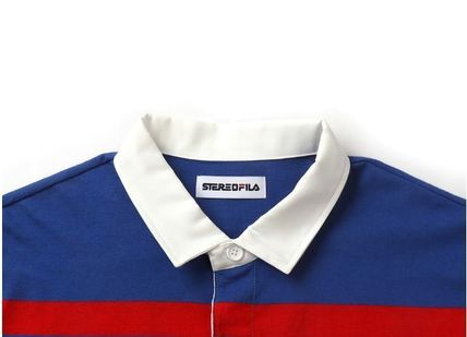 STEREO VINYLS COLLECTION ポロシャツ STEREO VINYLSの[SS19 STEREO X FILA] Color block Rugby Shirts(7)