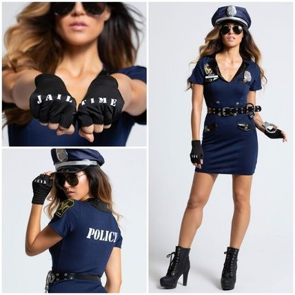 Down Blue XL Dreamgirl Women`s Officer Pat U