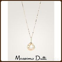 MassimoDutti♪METAL PENDANT AND PEARL BEAD NECKLACE