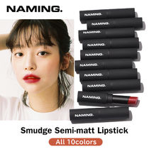 SNS話題 [NAMING] Smudge Semi-matt Lipstick / マットリップ