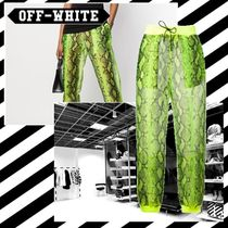 OFF WHITE/パンツ/PRINTED TROUSERS/パイソン/関税,送料込