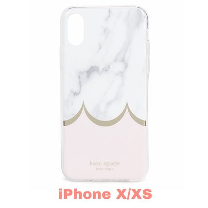 【kate spade new york】Marble Scallop iPhone XS / X Case