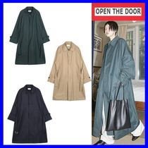 OPEN THE DOOR  over-fit single trench coat (3 color) /追跡付