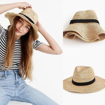 e07a75308376e BUYMA| 送料込 J Crew ストローハット Wide-brim packable straw hat ...
