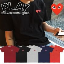 COMME des GARCONS Play ダブルハート ロゴTシャツ メンズ