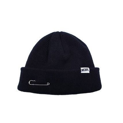 【国内発送・送料無料】MACK BARRY MCBRY SHORT BEANIE - black