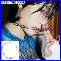 [OPEN THE DOOR] silver pin clip chain necklace-unisex/追跡付
