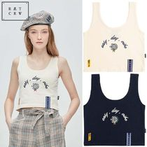 ROMANTIC CROWN★韓国大人気★E.D.V Crop Sleeveless 2色