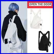 [OPEN THE DOOR]   diagonal line 2way bag (2 color) / 追跡付