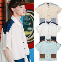 ★WV PROJECT★韓国 シャツ Two ton yoke short-shirts【全3色】