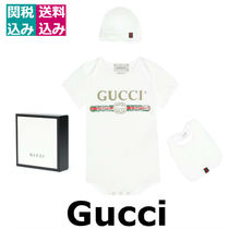 ギフトに最適☆GUCCI KIDS☆Cotton bodysuit, bib and hatセット