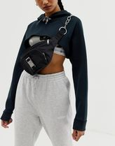 ASOS DESIGN seat belt buckle and chain detail bum bag