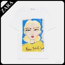 ★ZARA TRF★  T-SHIRT WITH FRONT PRINT