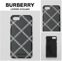 【BURBERRY】UK発/送料込み♪リンクプリント レザー iPhone 8♪