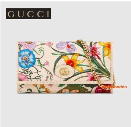outlet store 820aa 7296b 雑誌掲載 日本限定 GUCCI(グッチ) ★フローラ ウォレットバッグ