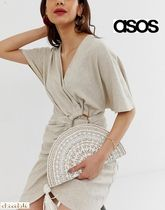 ASOS*Accessorize*ハーフムーンクラッチバッグ