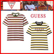 人気【GUESS】★GUESS EST 1981 STRIPE COLOR 半袖Tシャツ★2色