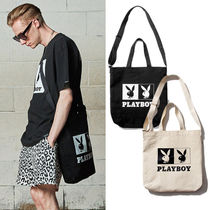 SAINTPAIN×PLAYBOY★トートバック OG LOGO CROSS TOTE BAG 2色