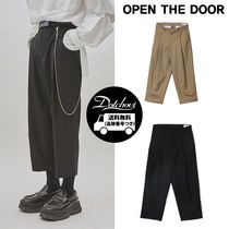 OPEN THE DOOR(オープンザドア) パンツ openthedoor Unisex tuck crop slacks NE901 / 追跡付