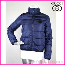 GUCCI★素敵!Blue Nylon Down Feather Puffer Jacket