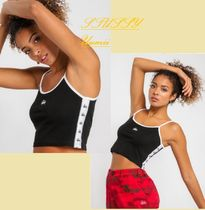 STUSSY/Grafitti Crop Singlet in Black