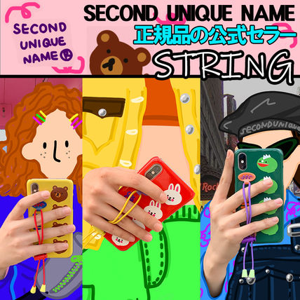 SECOND UNIQUE NAME スマホケース・テックアクセサリー 【NEW】「SECOND UNIQUE NAME」 STRING GLOSSY 正規品