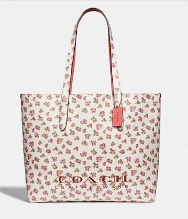 New! Coach (コーチ) Highline Tote With Floral Print トート