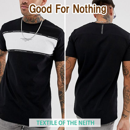 ◆Good For Nothing◆パネルロゴTシャツ 黒