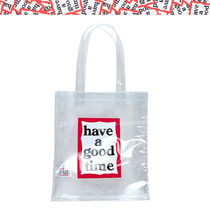 【have a good time】PVC FRAME TOTE★男女共用 クリアーバッグ