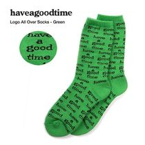 HAVE A GOOD TIME★韓国★Logo All Over Socksロゴ靴下 男女兼用